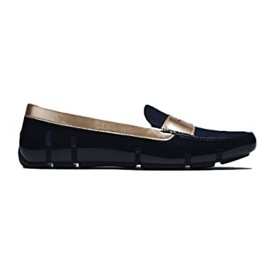 e3500366f80 Amazon.com  SWIMS Women s Metallic Penny Loafer Shoes - Navy  Clothing
