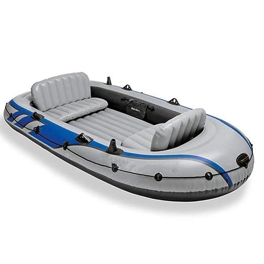 Kanqingqing Kayak 4 Personas Remo de Goma Barco de Pesca Aumento ...