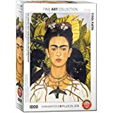 EuroGraphics Self Portrait with Thorn Necklace and Hummingbird by Frida Kahlo (1000 Piece) Puzzle, Model:6000-0802