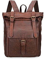 ALTOSY Vintage Genuine Leather Backpack Casual Daypack For Men