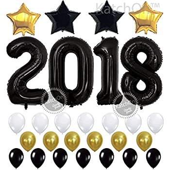 2018 Balloons Black Large
