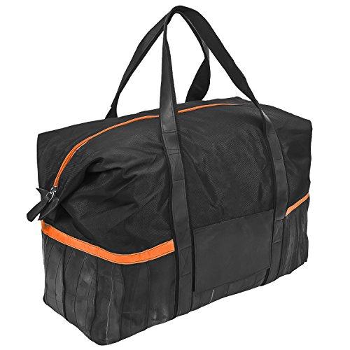 Reisetasche Design Sporttasche Dacarr Tasche XL - Gummi Nylon Schwarz Orange