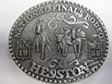 1989 Hesston/NFR Rodeo Belt Buckle -- Steer Wrestling -- Brand New/Original Package