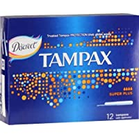 Tampax Super Plus Tampons with Applicator 12 count