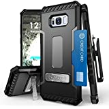 Galaxy S8 Case, PimpCase Durable Hybrid Rugged Armor Shockproof Phone Cover With Built In Kickstand with Holster And S8 Screen Protector