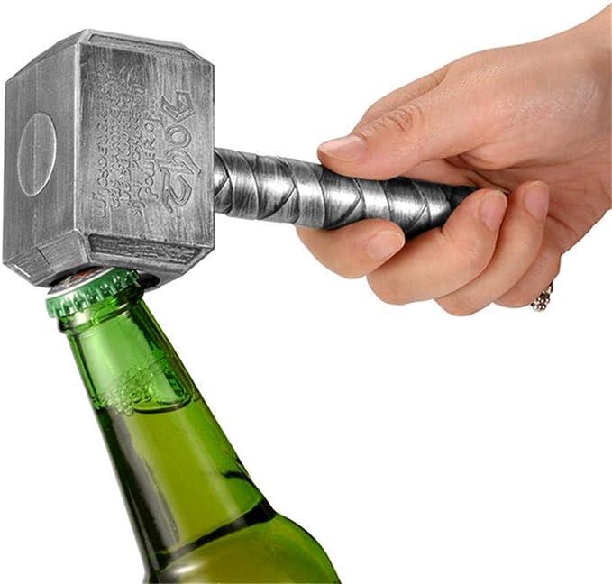 abridor de Botellas de Cerveza de aleaci/ón de Zinc ADHG Abrebotellas de Vino de Acero Inoxidable con ala de Oro Rosa removedor de Tapones de Botella para Cocina de Restaurante