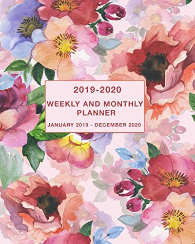 2019-2020 Weekly and Monthly Planner January 2019 - December 2020: Two Year Weekly and Monthly Calendar and Planner