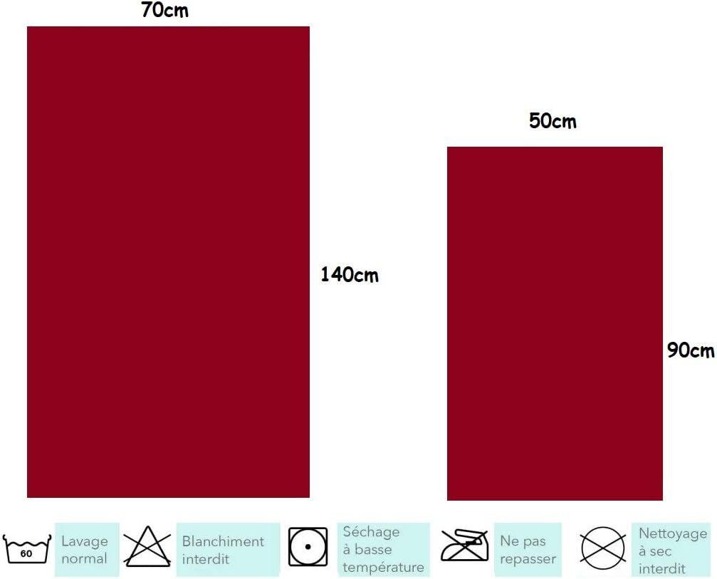 Lot de 8 Serviettes 100/% Coton Qualit/é h/ôteli/ère 4 Serviette de Bain 70x140cm et 4 Drap de Bain 50x90cm Taupe