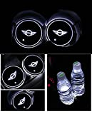 Bearfire Car Logo LED Cup Pad led cup coaster cup holder light USB Charging Mat Luminescent Cup Pad LED Mat Interior Atmosphere Lamp Decoration Light (Mini)