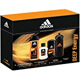 Adidas Male Personal Care Deep Energy Water Bottle 3 Piece Fragrance Set