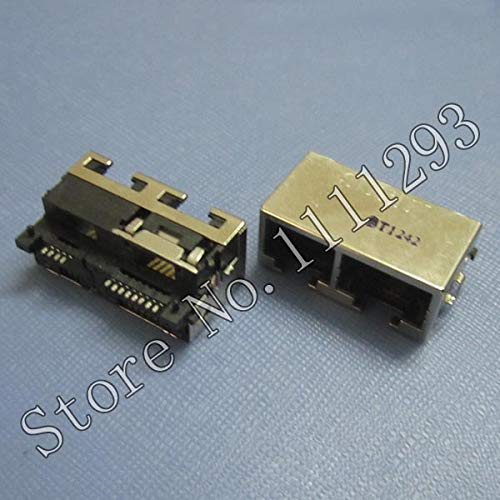(Gimax 10pcs/lot Lan Jack Connector/Modem Port for Asus F83vf X88v motherboard etc Laptop RJ11 4pin + RJ45 8pin)