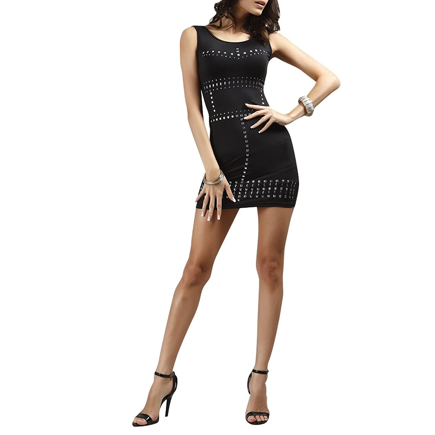 CoolBiz Women's Studded Sleeveless Dress