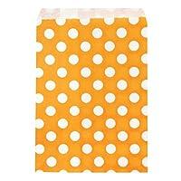 Allydrew Polka Dot Favor Bags, Orange (Set of 25)