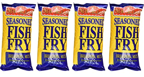 Zatarain's New Orleans Seasoned Fish Fry Breading Mix, 10 Ounces - Pack of 4