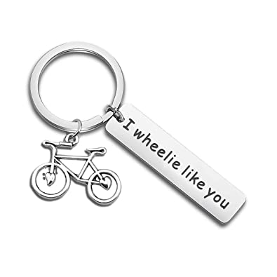Amazon.com: bobauna I Wheelie Like You - Llavero para pareja ...