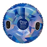 XinoSports Premium Inflatable Snow Tube, Large 42 inch Diameter Sled, Heavy Duty Design to Provide Hours of Fun, Snow Sledding