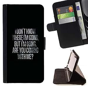 Momo Phone Case / Flip Funda de Cuero Case Cover - Dónde ir Mi amor de San Valentín Negro - Apple Iphone 5C
