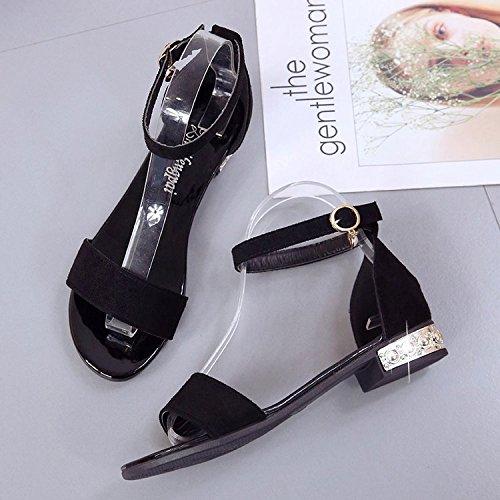 bocca UE Beige stile con scarpe pesce di nuovo estate basse Sandali donna 2018 RUGAI npOdq40w4