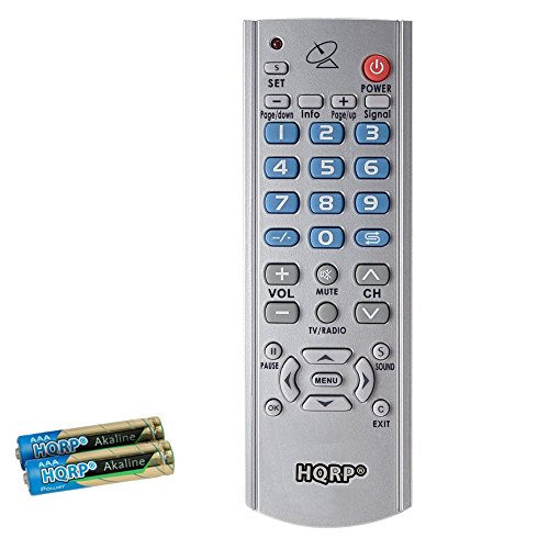 HQRP Remote Control for AZ Box Elite / Ultra, AZbox EVO XL Satellite Receiver + HQRP Coaster