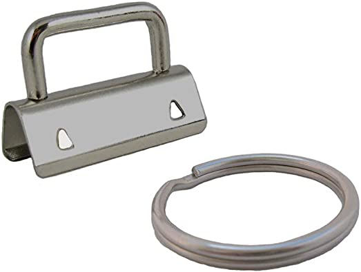 25 Sets 1 1 INCH - Key Fob Hardware//Key Chain//Wristlet Sets with Split Rings//Key Rings
