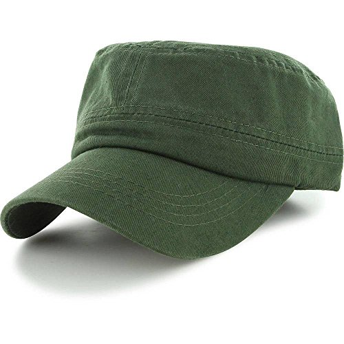 Olive_Men Women BaseBall Cap Golf Driving Summer Army Military Patrol Cadet Hat (US - Rims Ozzy