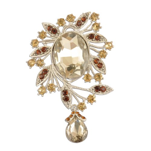 ing Fashion Topaz Brooch (Dangling Vintage Brooch)