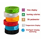 Efanr® 2015 Water Resistant Bluetooth Smart Watch Bracelet Exercise Smartwatch Running Wristbands Sports Watches Luxury Fitness Health Tracking System Wrist Watch Women Men Cell Phone Mate Partner 3D Pedometer Step Walking Distance Calorie Counter Activity Tracker Sleep Monitoring Silicone Temperature with LED Display for Android 2.3+ IOS Smartphones, Compatable with Apple iPhone 6 Plus 5S 5C 4S HTC One M8 Lenovo Nokia Lumia One Plus One Oppo Xiaomi Sony Xperia Z3 Huawei LG G3 Nexus Samsung Galaxy Note 4 Note 3 S6 S5 S4 S5 Active (Red)