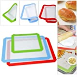 3Pcs Silicone Baking Mat Non Stick Heat Resistant Liner Sheet Cooking Mat Bakeware Non-Stick Cookie Sheet Baking Supplies 2L+1S