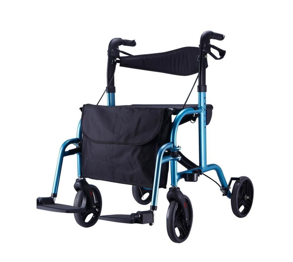 XIXI Ayudas para caminar / carrito de compras de cuatro ruedas, Tubo de aleación de aluminio de alta calidad de 1.2Mm - Freno y manija con cerradura ...
