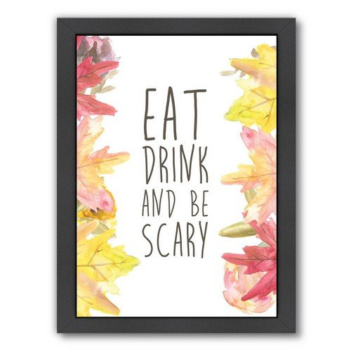 Americanflat Eat Drink and Be Scary Halloween Black Frame Print by Jetty Printables, 9