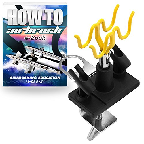 - PointZero Clamp-on Stand Table-Mount Four Airbrush Holder Station