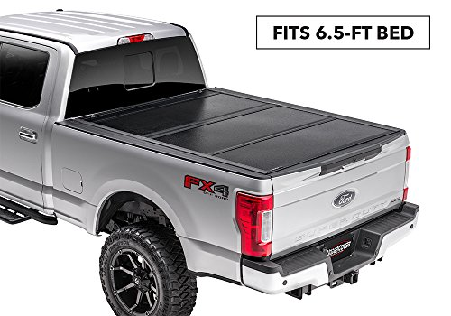 (UnderCover Flex Hard Folding Truck Bed Tonneau Cover | FX11019 | fits 2014-2018 Chevrolet Silverado/GMC Sierra  & 2019 Legacy/Limited  6.5ft Short Bed Std/Ext/Crew(2014 1500 Only, 2015-2019)