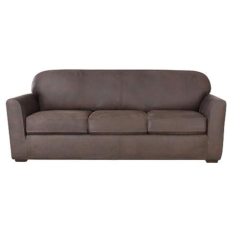 Amazon Com Surefit Ultimate Stretch Leather Sofa Slipcover