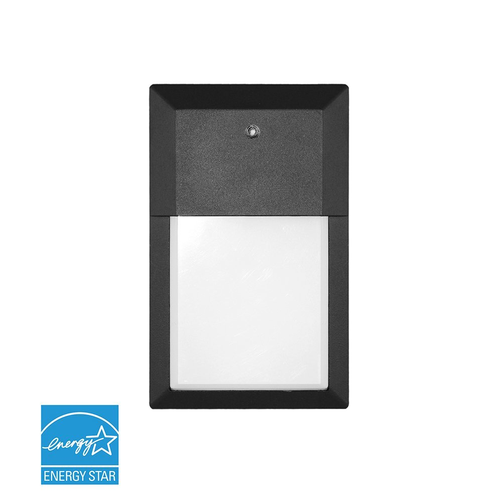 Euri Lighting EOL-WL04BLK-1250e Mini Outdoor Integrated LED Wall Light with Black Aluminum Die Cast