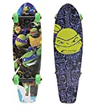 PlayWheels Teenage Mutant Ninja Turtles 21' Wood Cruiser Skateboard, Turtle Power