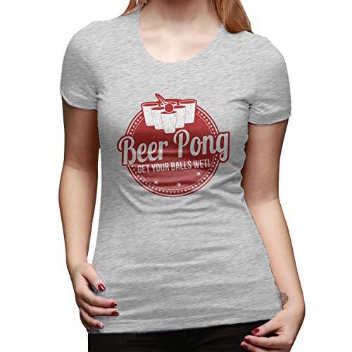 Beer Pong Women's T-Shirt Gray ()