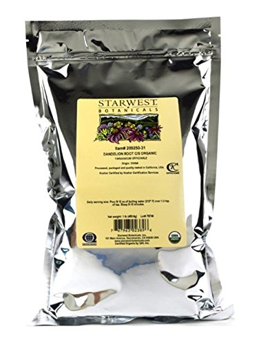 (Starwest Botanicals Organic Raw Dandelion Root Tea [1 Pound] Bulk Cut & Sifted (C/S) Loose Tea)