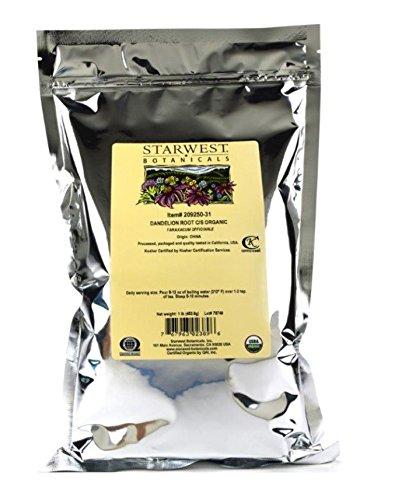 Organic Raw Dandelion Root Tea [1 Pound] Bulk Cut & Sifted (C/S) Loose Tea ()