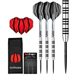 APOLLO 23g - TUNGSTEN STEEL DARTS SET with Flights, Shafts, Case & Red Dragon Checkout Card by Red Dragon Darts