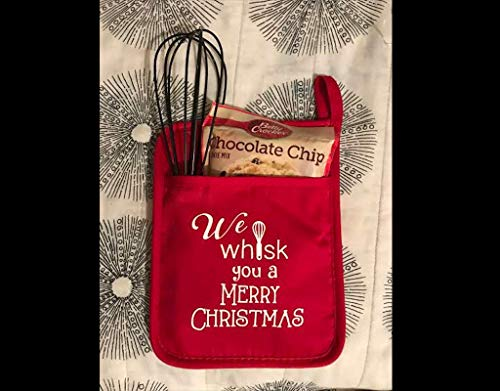 Teacher Gifts, HTV Potholder, Hostes Gifts, Oven Mitt, Santa gift, Teacher appreciation gift, Baker gift, Vinyl potholder, Cookies for Santa (Teacher Gift Cookie)