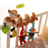 Babybett Spielzeug - Cute Monkey Design Neues Kinderspielzeug - Baby Activity...