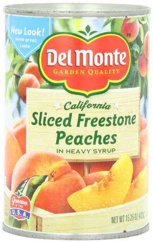 Del Monte Sliced Freestone Peaches in Heavy Syrup, 15.25 Oz (Pack of 6)