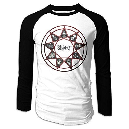 Slipknot Outfit (Slipknot - Vol 3 The Subliminal Verses Men Baseball Shirts Raglan Long Sleeve Printing Shirts)