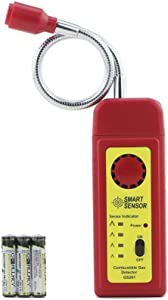 Gas Detector Alarm, Portable Natural Gas Tester Detector/Combustible Propane Methane Gas Sensorr, Combustible Gas Sniffer with Sound Warning, Adjustable Sensitivity and Flex Probe