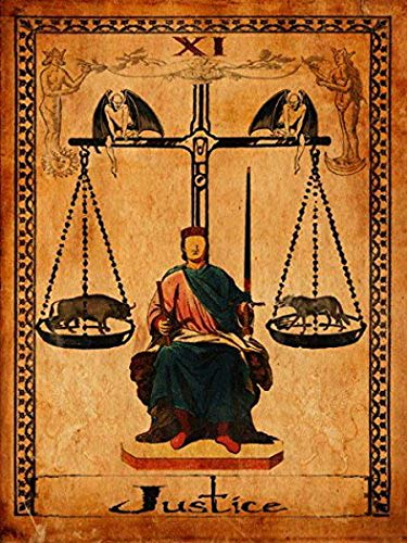 - Losea Justice Tarot Card Metal Sign, Metaphysical, Divination, Fortune-Telling, Boho, Gypsy