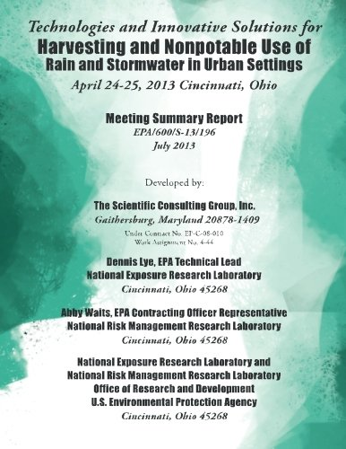 Technologies and Innovative Solutions for Harvesting and Nonpotable Use of Rain and Stormwater in Urban Settings ebook