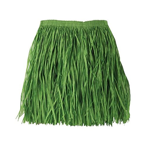 Paper Skirt (Amscan Hawaiian Summer Luau Party Adult Mini Hula Skirt Wearables, 1 Piece, Made from Paper, Hawaiian Luau Party/Beach Party, 16