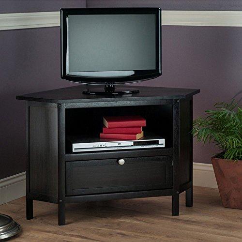 Wow 23 Space Saving Corner Breakfast Nook Furniture Sets: Winsome Zena Corner TV Stand Espresso