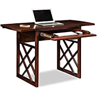 Leick 81420 Chocolate Oak Drop Leaf Computer/Writing Desk