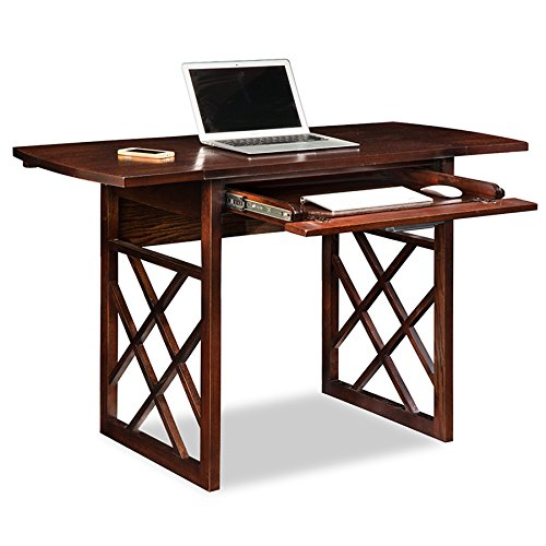 (Leick 81420 Chocolate Oak Drop Leaf Computer/Writing Desk)